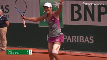 Roland Garros : La joie d'Harmony Tan après sa victoire 6/2 6/4 !