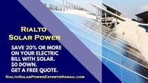 Affordable Solar Energy Rialto CA - Rialto Solar Energy Costs