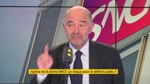 """""""La baisse du déficit français est réelle et consistante, mais le prochain combat c'est le combat contre l'endettement public. La dette publique française n'a pas baissé autant et loin de là que les autres dettes publiques européennes"""" Pierre Moscovici"""