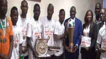 Can Mini foot: la Côte d'Ivoire, championne d'Afrique présente son trophée au ministre des sports