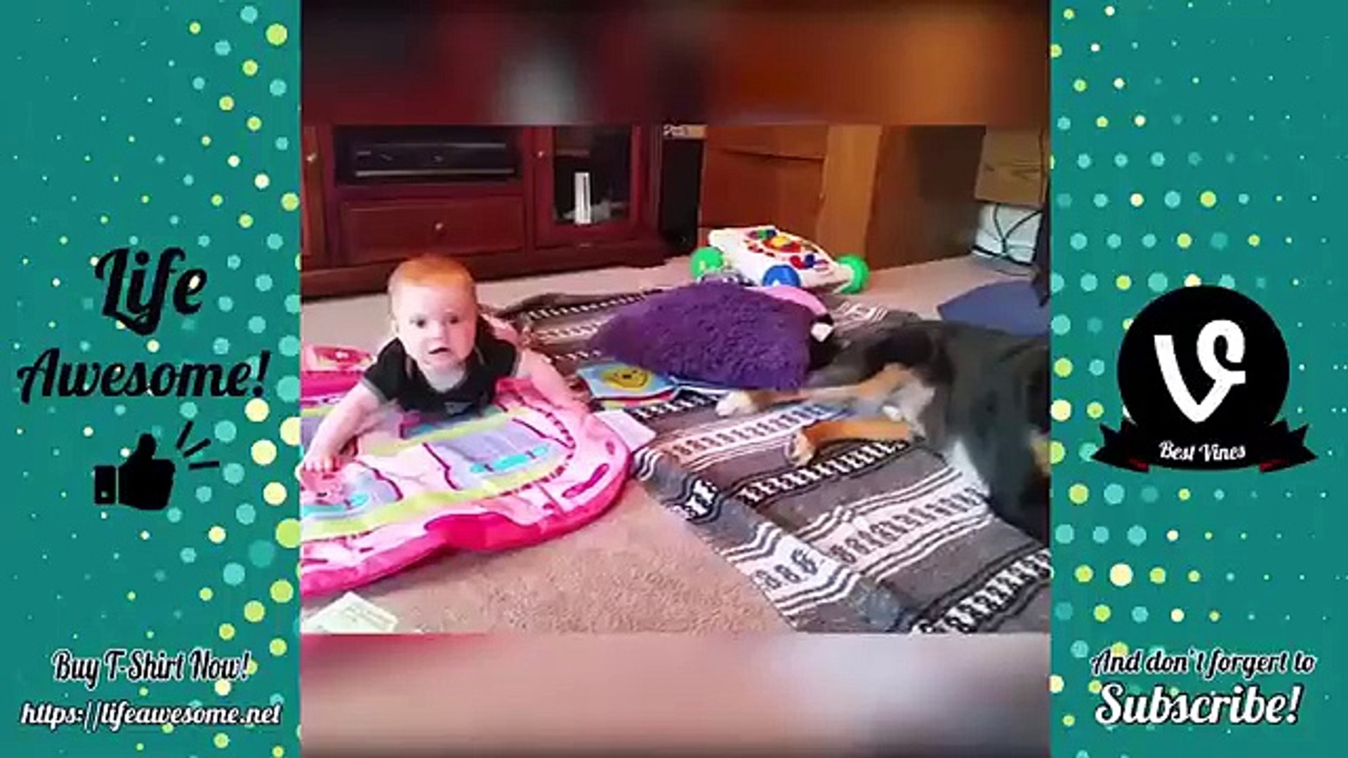 Funny videos Pretty babies with pet animals