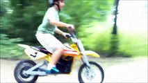 My Razor Electric MX-650 Dirtbike. Jumping, Tailwhips, Cross-ups, & Donuts ;-)
