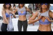 Jennifer Lopez in Gym Clothes Leaving the Gym in West Hollywood