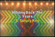 Simply Red Holding Back The Years Karaoke Version