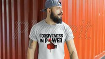 amazing boxing t shirt for boxing lover !! - ( Forgiveness in Power ) boxing gloves T-shirt