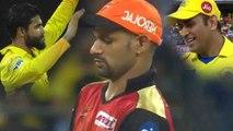 IPL 2018 FINAL :  Ravinder Jadeja cleans Bowled Shikhar Dhawan, MS Dhoni smiles | वनइंडिया हिंदी