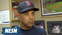 Alex Cora recaps the Red Sox 6-3 loss to the Rays