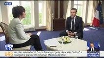 """Réformes: """"Je ne préside pas à la lumière des sondages ou des manifestations"""", insiste Emmanuel Macron"""