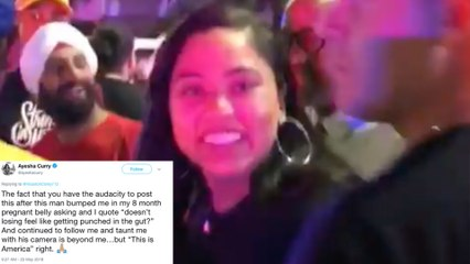 Ayesha Curry ATTACKED by ANGRY Rockets Fan Who BUMPS Pregnant Belly After Warriors Loss