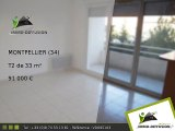 T2 A vendre Montpellier 33m2 - Celleneuve