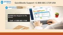 QuickBooks Support +1 800 681 1729 For Technical Errors