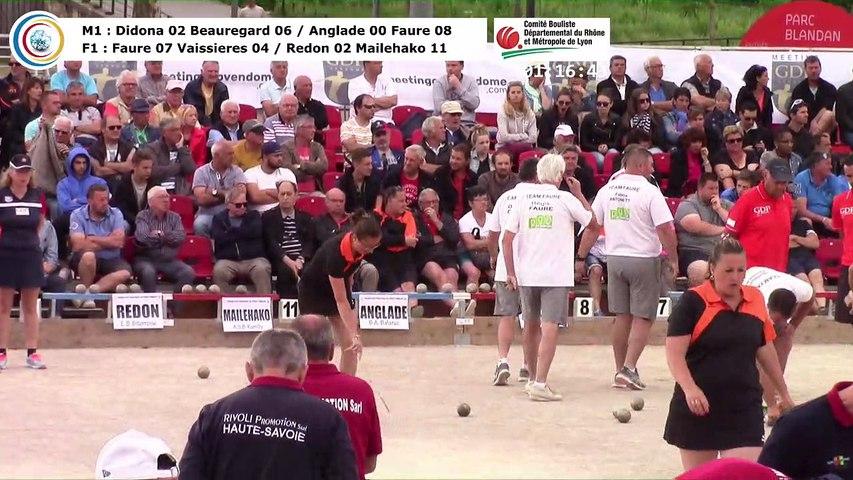 Demi-finales M1 et F1, 106èmes Tournois Boulistes de Pentecôte, Lyon 2018