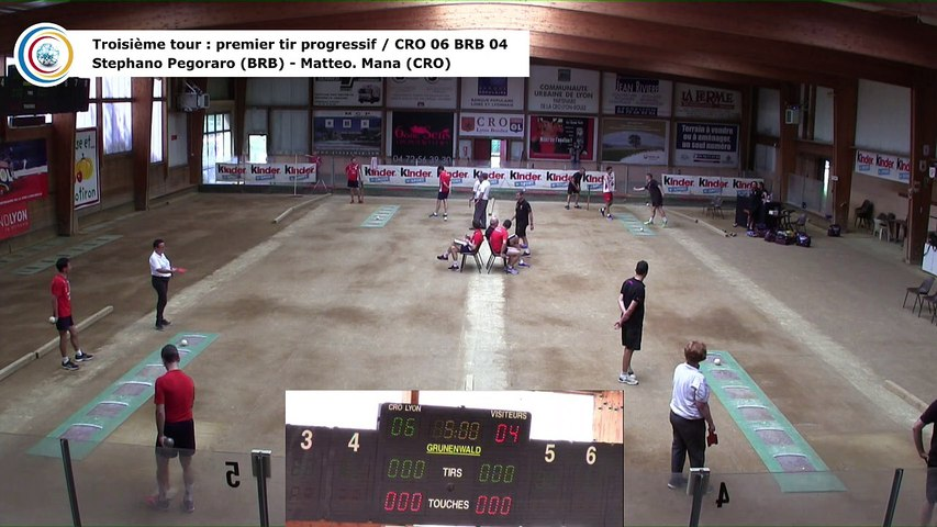 Troisième tour, premier tir progressif, CRO Lyon contre BRB Ivrea, quart de finale retour, 29ème Coupe d'Europe des Clubs, Aix-les-Bains 2018