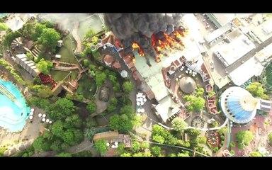 Terrible incendie à Europa-Park