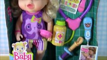 Baby Alive Better Now Baby Doll! Sick Dolly gets a medicine and shot!Baby gets a SURPRISE TOY!