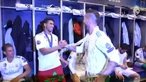 Dressing room celebrations with the CHAMPIONS! - Champions League Final