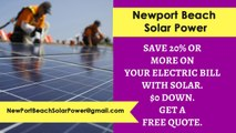 Affordable Solar Energy Newport Beach CA - Newport Beach Solar Energy Costs