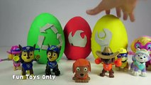 PAW PATROL Surprise Eggs Chase, Rocky, Marshall, Rubble & Skye Play-Doh Paw Patrol Surprise Eggs