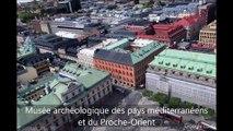 Stockholm (Suède) : Itinéraire de visite touristique et culturelle par vue aérienne de la ville en 3D