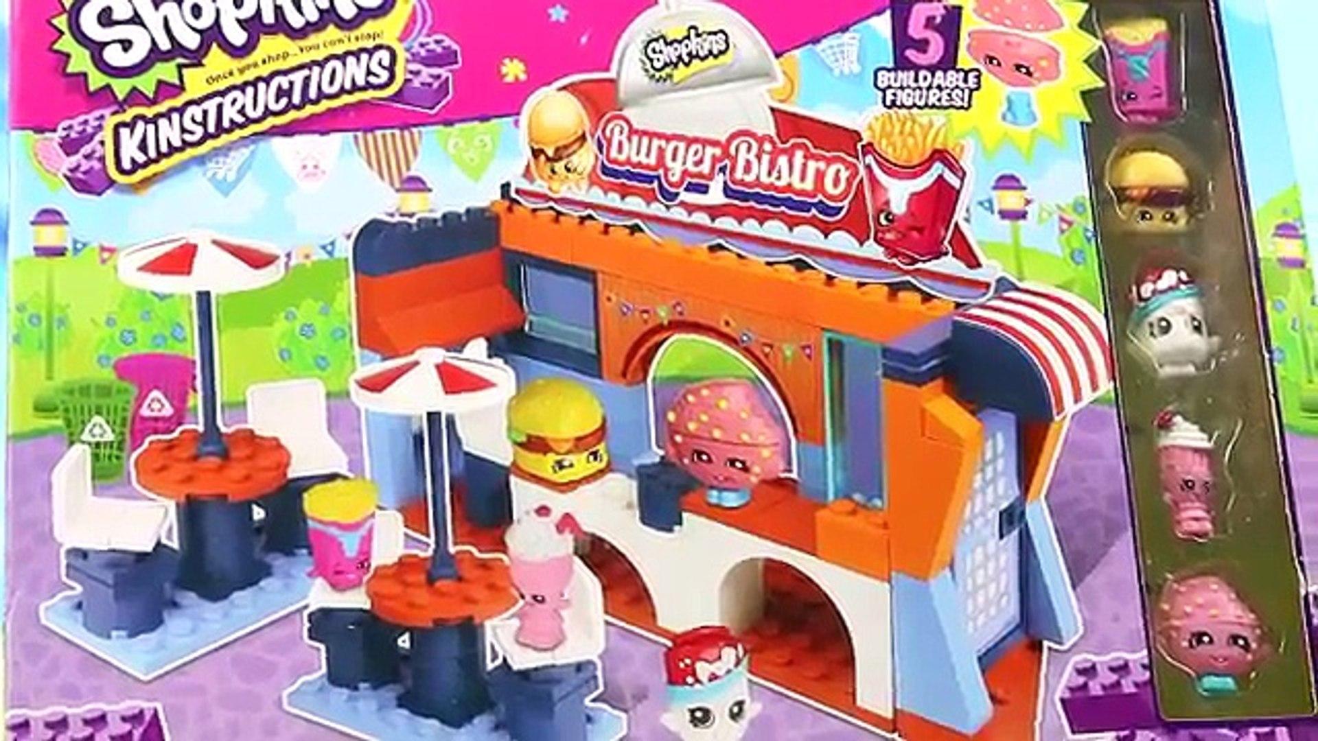 Burger Bistro | Shopkins Kinstructions & Barbie | Bajki dla dzieci i unboxing