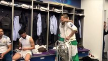 Dressing room celebrations with the CHAMPIONS!   Champions League Final