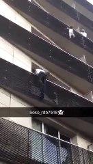 Il escalade à mains nues un bâtiment pour sauver un bébé accroché dans le vide à paris