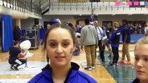 SCSU's Rotem Porat, Abigail Bensley, and Tiffany Elliot 2-17-17