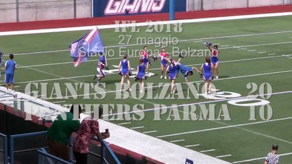 Giants Bolzano - Panthers Parma 20-10, highlights e interviste