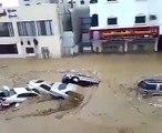Cyclone Mekunu in Oman...!!!Cars flowing with flood water...Live video...!!!!!!