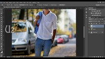 Photoshop Photo editing   Background changing   Walking in the road