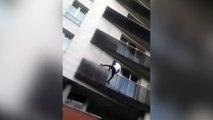 El héroe del que todo el mundo habla: escaló 4 pisos para salvar a un niño