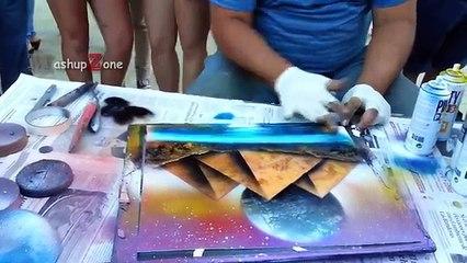 Top 5 AMAZING Spray Paint Art Videos By Street Artists