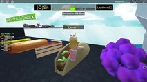 ROBLOX Get Eaten Riding Giant Pooping Rainbow Unicorn + Epic MiniGames