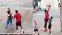 WATCH: Joel Embiid BULLIES Pickup Basketball Players, Bounces Ball Off Dude's HEAD!