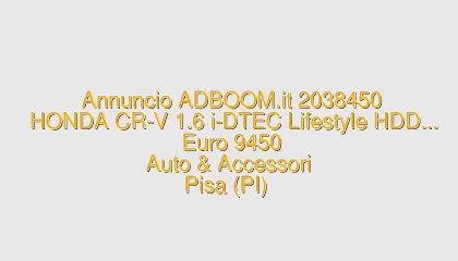 HONDA CR-V 1.6 i-DTEC Lifestyle HDD...