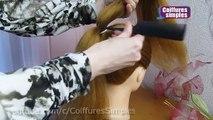 Tuto coiffure soirée -mariage -pour les fêtes -Noël  Chignon tressé facile cheveux mi long- long