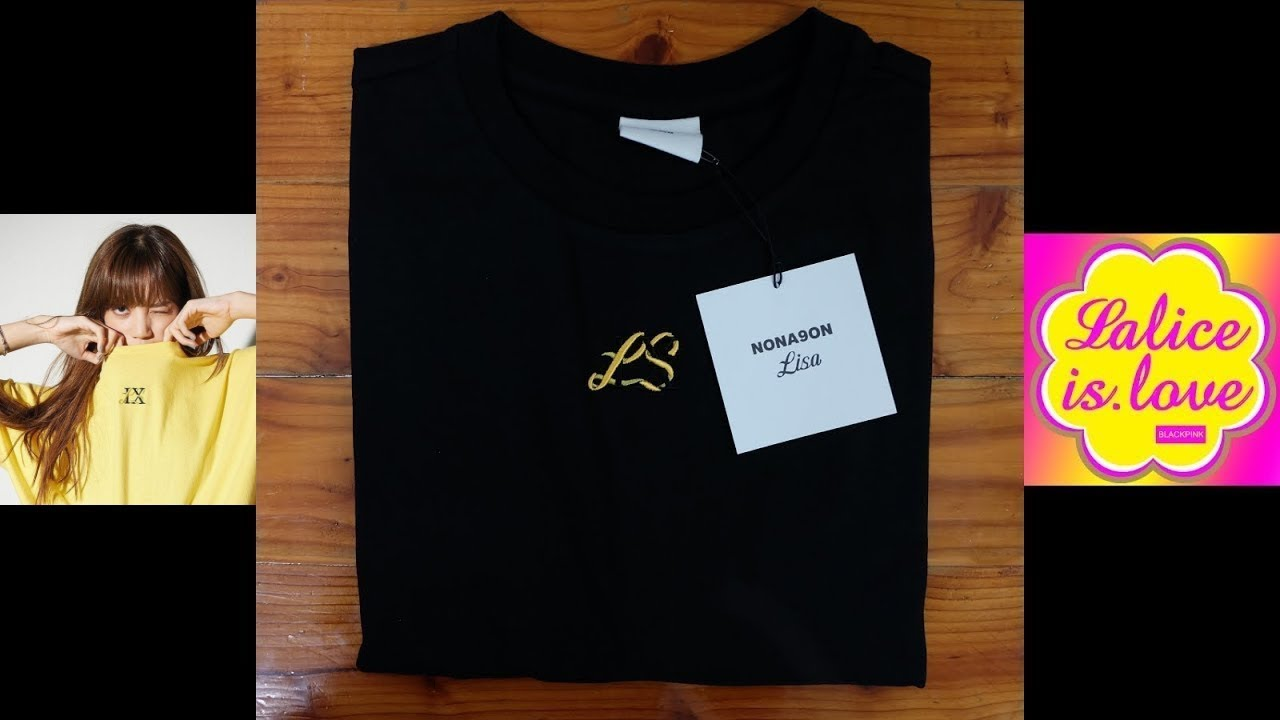 [UNBOXING] LISA x NONA9ON – EMBROIDERED T-SHIRT BLACK [1ST LISA COLLABORATION]