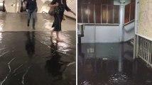 À Paris, des stations de métro inondées sont fermées après les fortes pluies