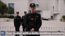 La police chinoise partage sa brillante idée pour aider les gens à faire face aux attaques au couteau
