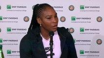 """Roland Garros - Williams : """"Je n'aurais pas joué si je ne me sentais pas prête"""""""