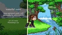 Speedpaint - Pixel art Waterfall outro/intro screen animation