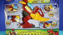 New Power Rangers Rumble And Roar T-Rex Zord Vs Ty Rux Dinotrux Dino Super Charge Unboxing -WD Toys