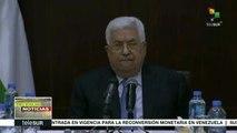 Presidente de Palestina rechaza ataque aéreo israelí