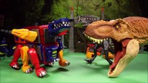 New 3 Magformers Dinosaur Toys Indoraptor Vs T-Rex Vs Raptor Jurassic World Fallen Kingdom Unboxing