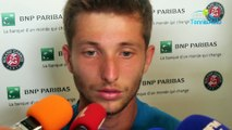 """Roland-Garros 2018 - Corentin Moutet : """"79 000 euros ? J'ai pas le permis donc je vais pas m'acheter une voiture"""""""