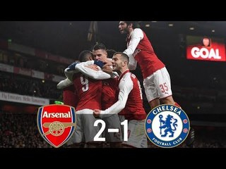 Arsenal 2-1 Chelsea●  All Goals & Highlights 24/01/2018 HD