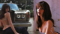 Emily Ratajkowski sizzles in backless silver top with serious sideboob as she poses with Rolls Royce