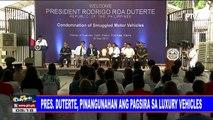 Pres. #Duterte, pinangunahan ang pagsira sa luxury vehicles