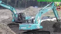 Stone Breaker Kobelco SK 210HD Hydraulic Excavator - video