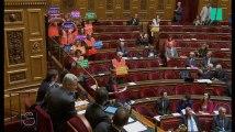 Les sénateurs communistes s'habillent en cheminots lors des discussions sur la réforme du pacte ferroviaire